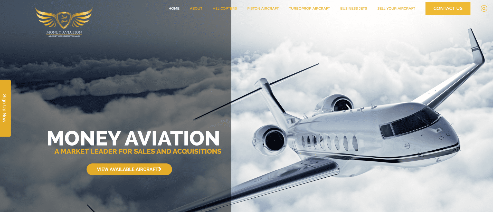 Money Aviation, AOM, Digital Marketing Agency, Recent Work
